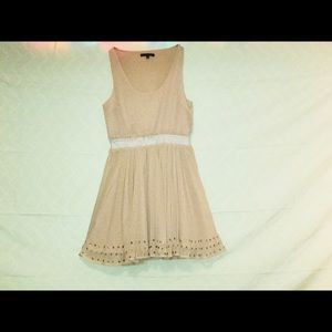 Lucca Couture // Beige women's sleeveless dress
